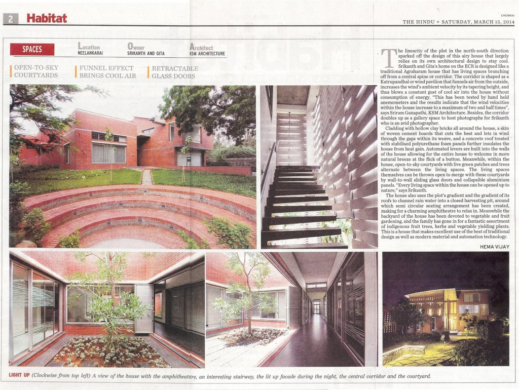 KSM Architecture-Srikanth-Gita-House-Habitat-The Hindu