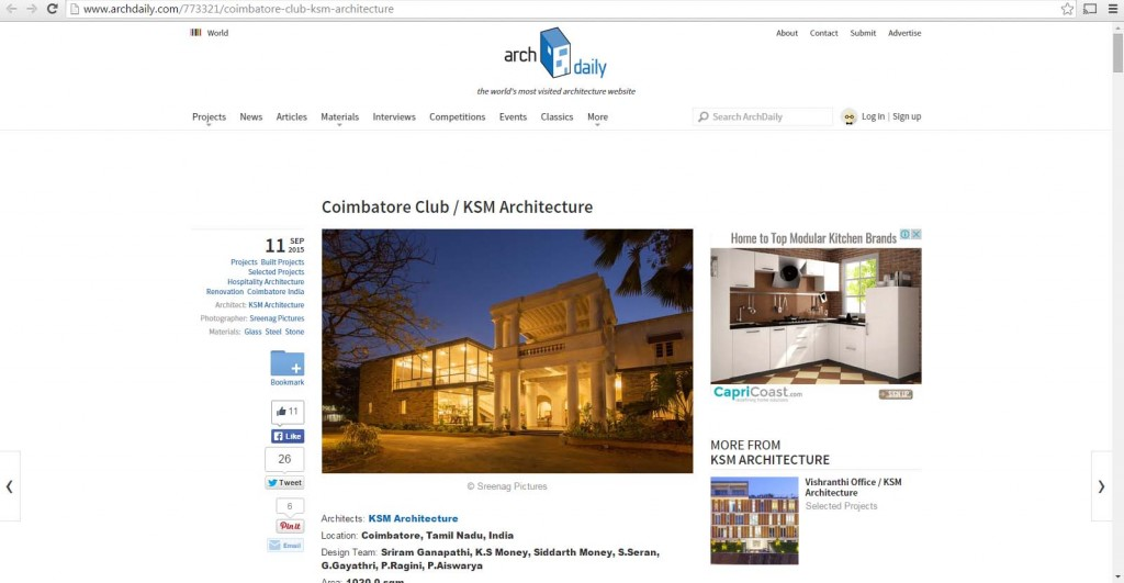 KSM Architecture-Coimbatore Club